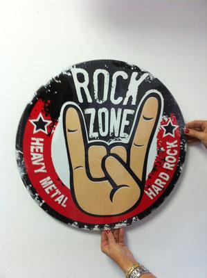 Metallschild  Rockzone