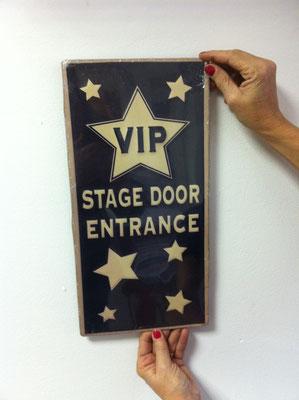 Metallschild VIP Room