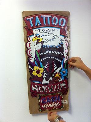 Metallschild Tattoo
