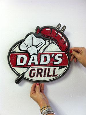 Metallschild Dads Grill