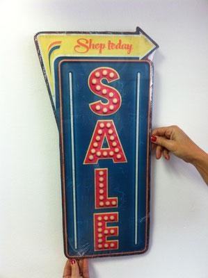 Metallschild Sale