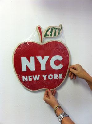Metallschild I love New York