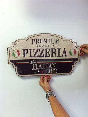 Metallschild Premium Pizzeria