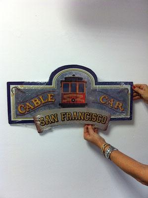 Metallschild San Francisco cable car