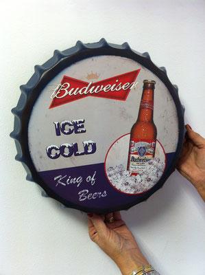 Metallschild Budweiser Werbung