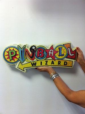 Metallschild Pinball Flipper