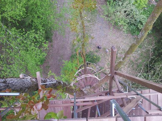 Blick nach unten von der 2. Ebene.