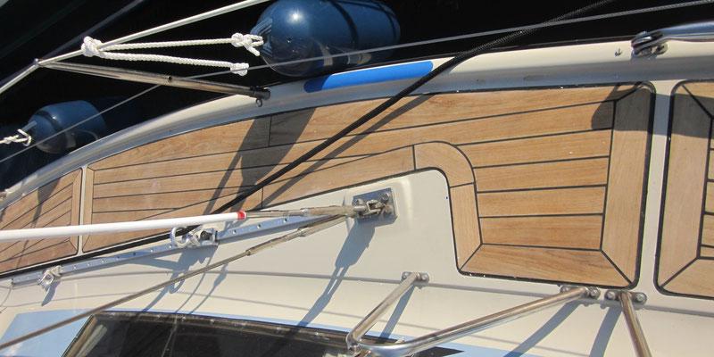 Bootsdeck Segelboot aus 95mm Teakholz Premium / Bootsbau