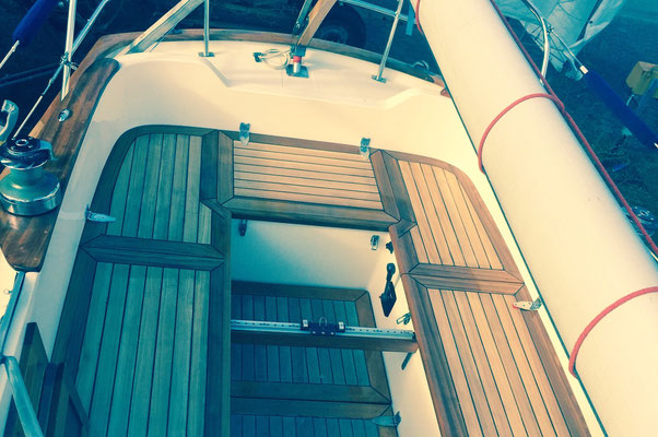 Backskistendeckel Segelboot aus Teakholz Premium
