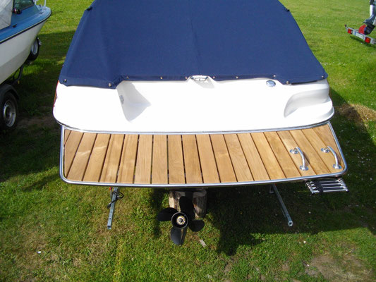 Badeplattform Motorboot Teakholz / Teak Premium