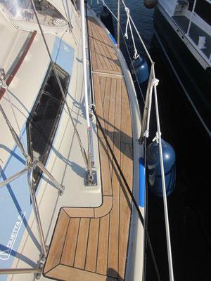 Bootsdeck Segelboot aus 95mm Teakholz Premium / Bootsbau / Bergeplattform