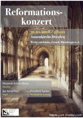 Konzertplakat - Reformationskonzert / 31.10.2018