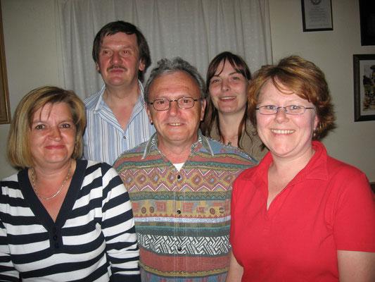 Die Wettkampfbesten 2008/2009: v.l. Carola Klimek, Günter Goßler, Norbert Korlek, Nicole Lenz und Petra Ploß