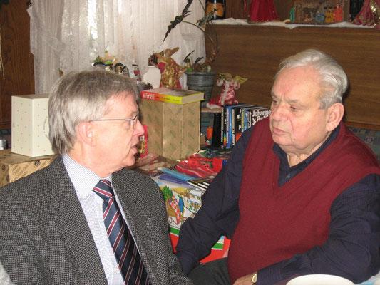 """Weihnachtsfeier 2012 beim """"Pietro"""" - Bürgermeister Robert Frenzl und Hans Wölfel"""