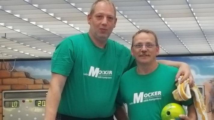 Bay. Meisterschaften in Augsburg 06/17: Markus Mühleis (links) und Jörg Lenz, Franz Teuchert fehlt auf dem Foto!