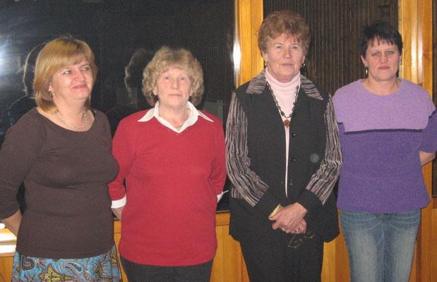 Erfolgreiche Keglerinnen 2006: v.l. Carola Klimek, Renate Ploß, Jette Wölfel und Roswitha Jakob