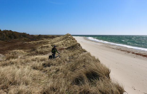langer Sandstrand bei Farsund