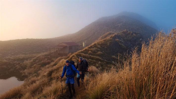 am Morgen nach dem Sturm mit Maungahuka Hut