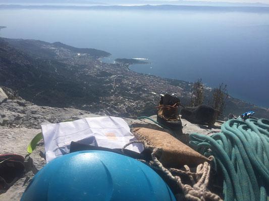 Am Ende der Tour mit Aussicht auf Makarska
