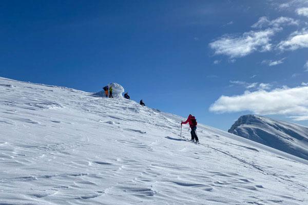 die letzten Meter zum Gipfelsteinmann