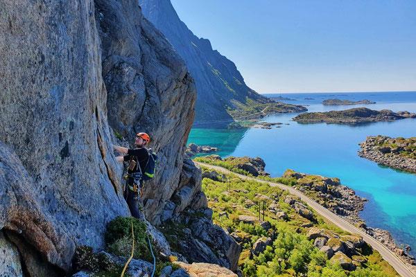 Klettern mit Meeresblick