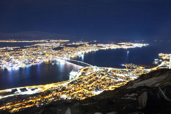 Nacht über Tromsø