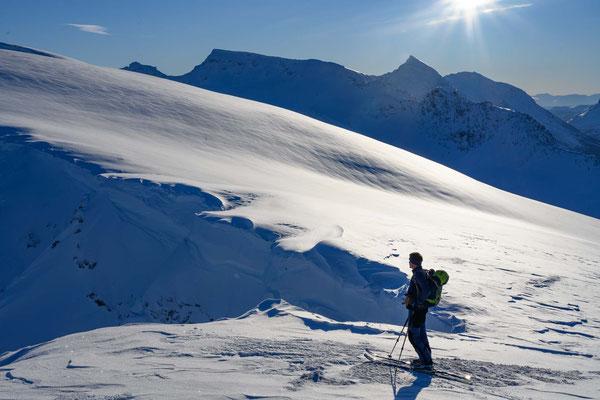 auf dem Wintergipfel des Fagerfjellet