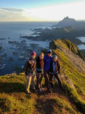 auf dem Gipfel der Fløya