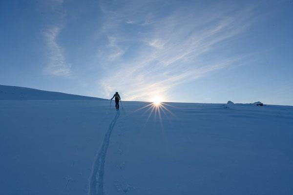 am Aufstieg zum Rundfjellet