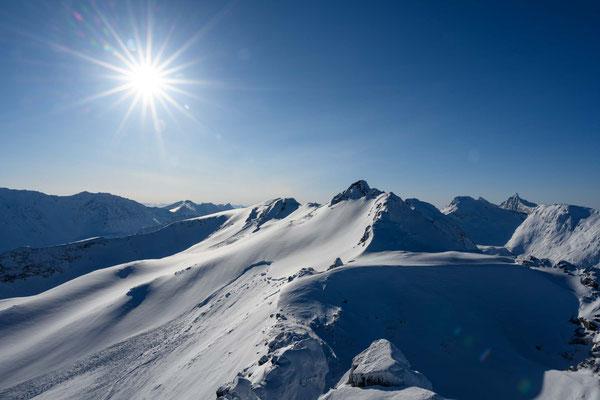 Am Gipfel des Stormheimfjellet