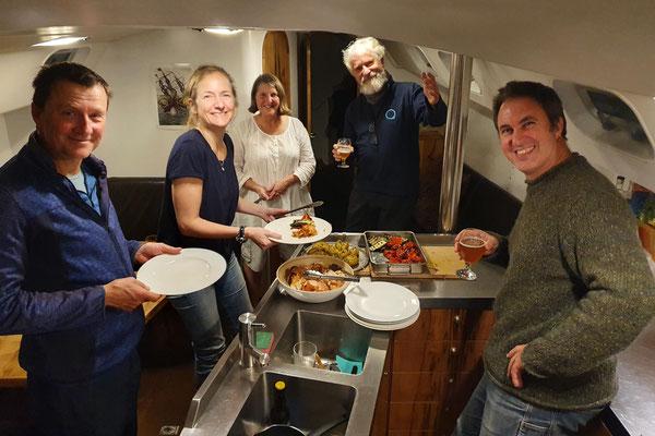 Abendessen auf der Kraken