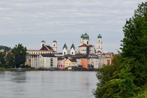 zurück an der Donau in Passau