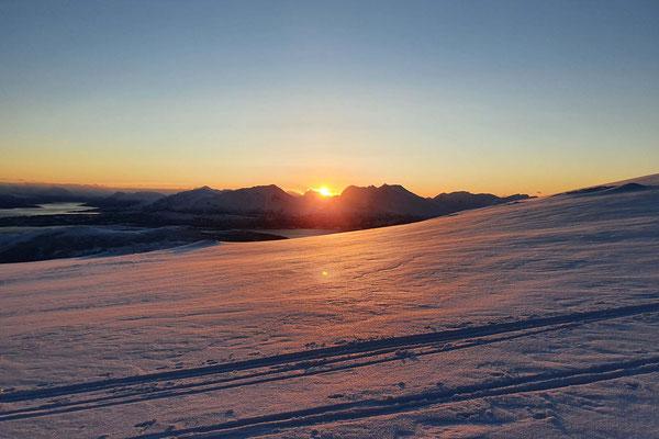 Endlich wieder Sonne am Gipfel