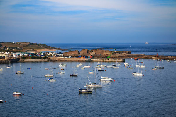 Ankerbucht in Alderney/ anchorage in Alderney