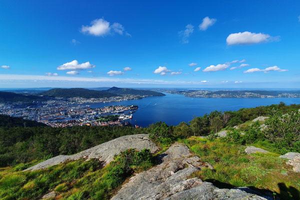Ausblick auf Bergen