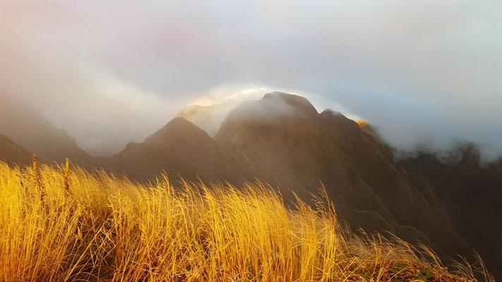 am Morgen nach dem Sturm Tararua Crossing
