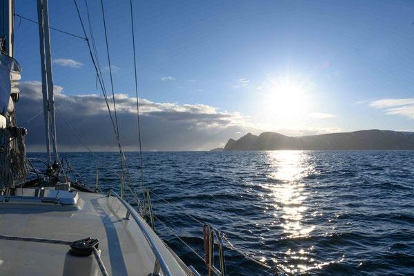 Das Nordkap im Sonnenlicht