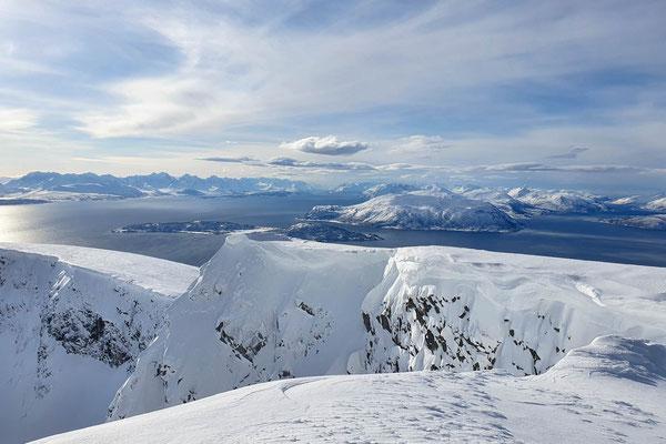 grandiose Fernsicht vom Gipfel des Vannkista