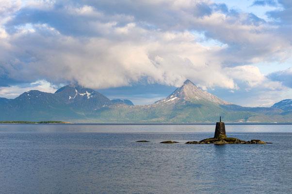 Ausblick vom Hafen von Skutvik