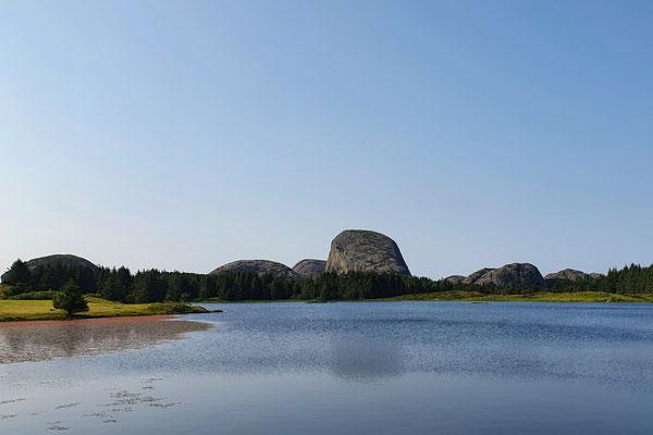 Konglomeratfelsen auf der Insel Værlandet