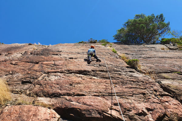 erstes Klettern in Norwegen