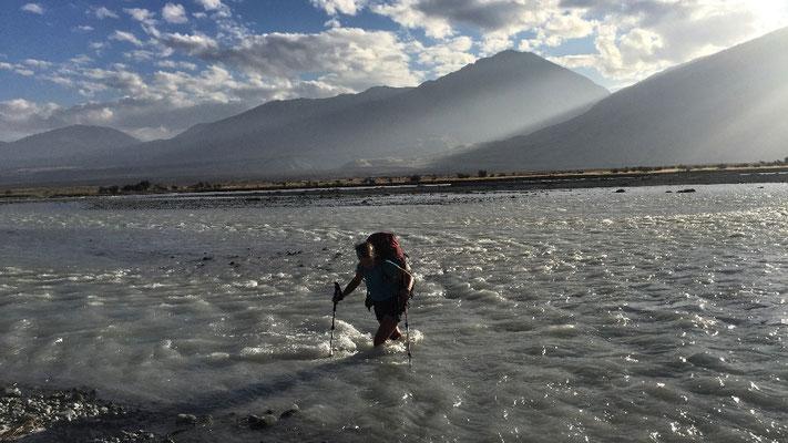 Durchquerung des Rangitata Rivers