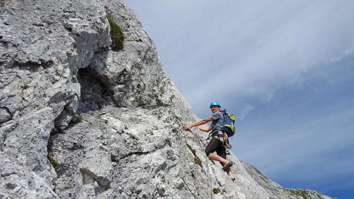 Klettern im KG-Weg Alpspitze