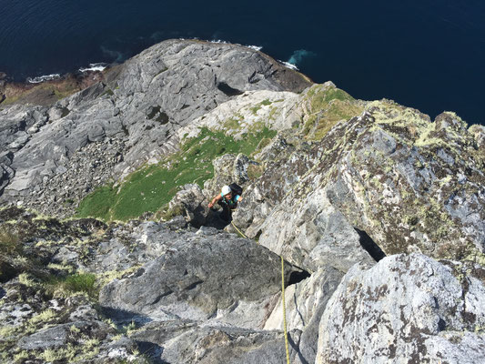 climbing the Traenstaven/ Klettern am Traenstaven