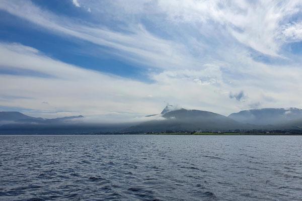 Wolkenstimmungen, wenn sich der Nebel auflöst