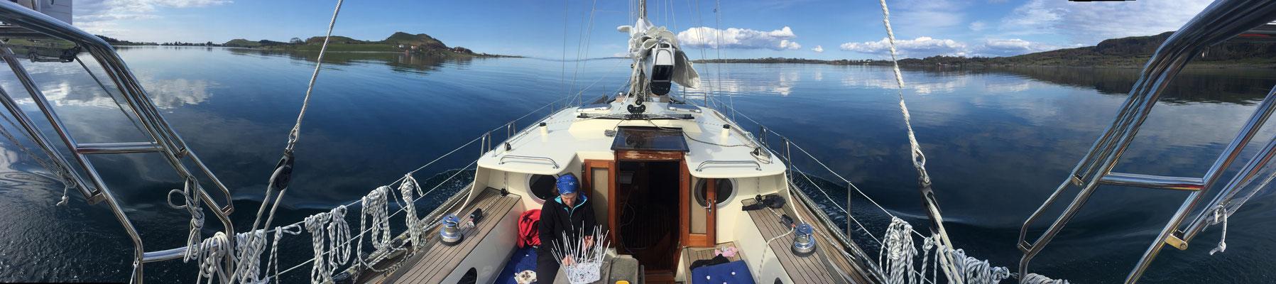 Bootsleben bei Flaute
