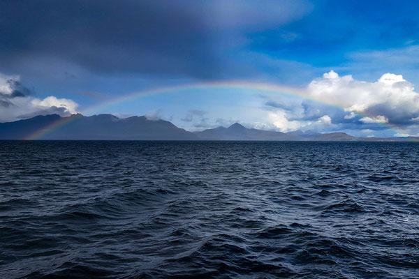 Regenbogen über Skye / rainbow across Skye