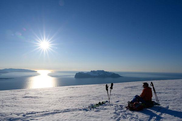 auf dem Gipfel des Klovsteinfjellet - Arnøya