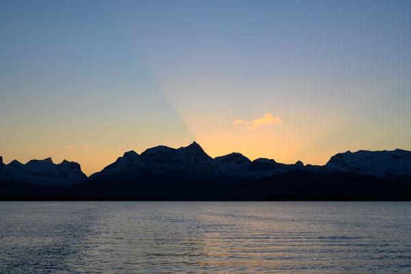 Sonnenaufgang ist inzwischen gegen 8.30 Uhr