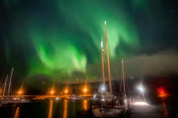 Aurora Borealis im Hafen